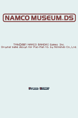Namco Museum DS Nintendo DS Title screen