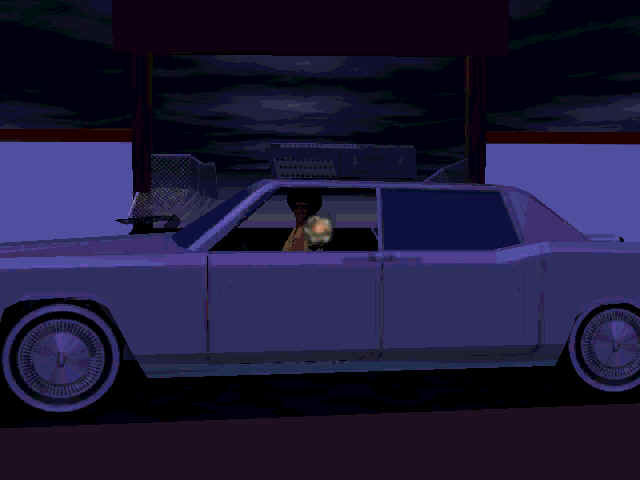 Interstate '76: Nitro Pack Windows Taurus after slamming through a gate (intro)