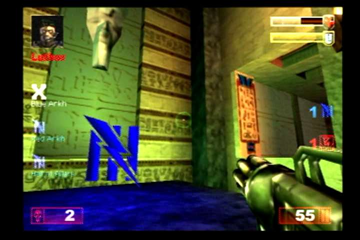 Unreal Tournament PlayStation 2 An area about to be taken over.