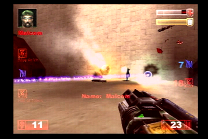 Unreal Tournament PlayStation 2 Looks like Malcom is in some trouble.