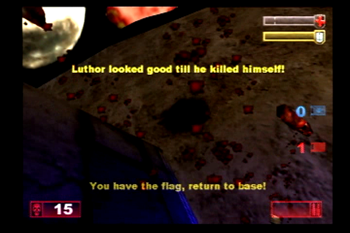 Unreal Tournament PlayStation 2 I think I will be taking the stairs next time.