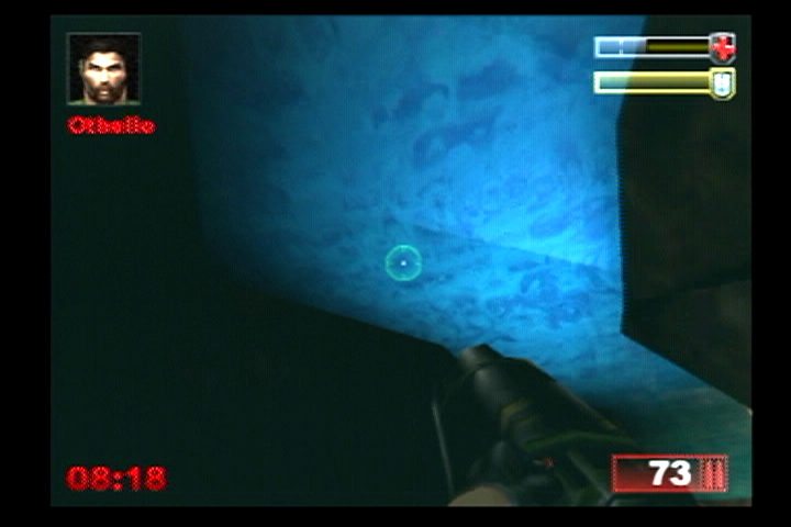 Unreal Tournament PlayStation 2 Don't stay underwater too long, or your health decreases.