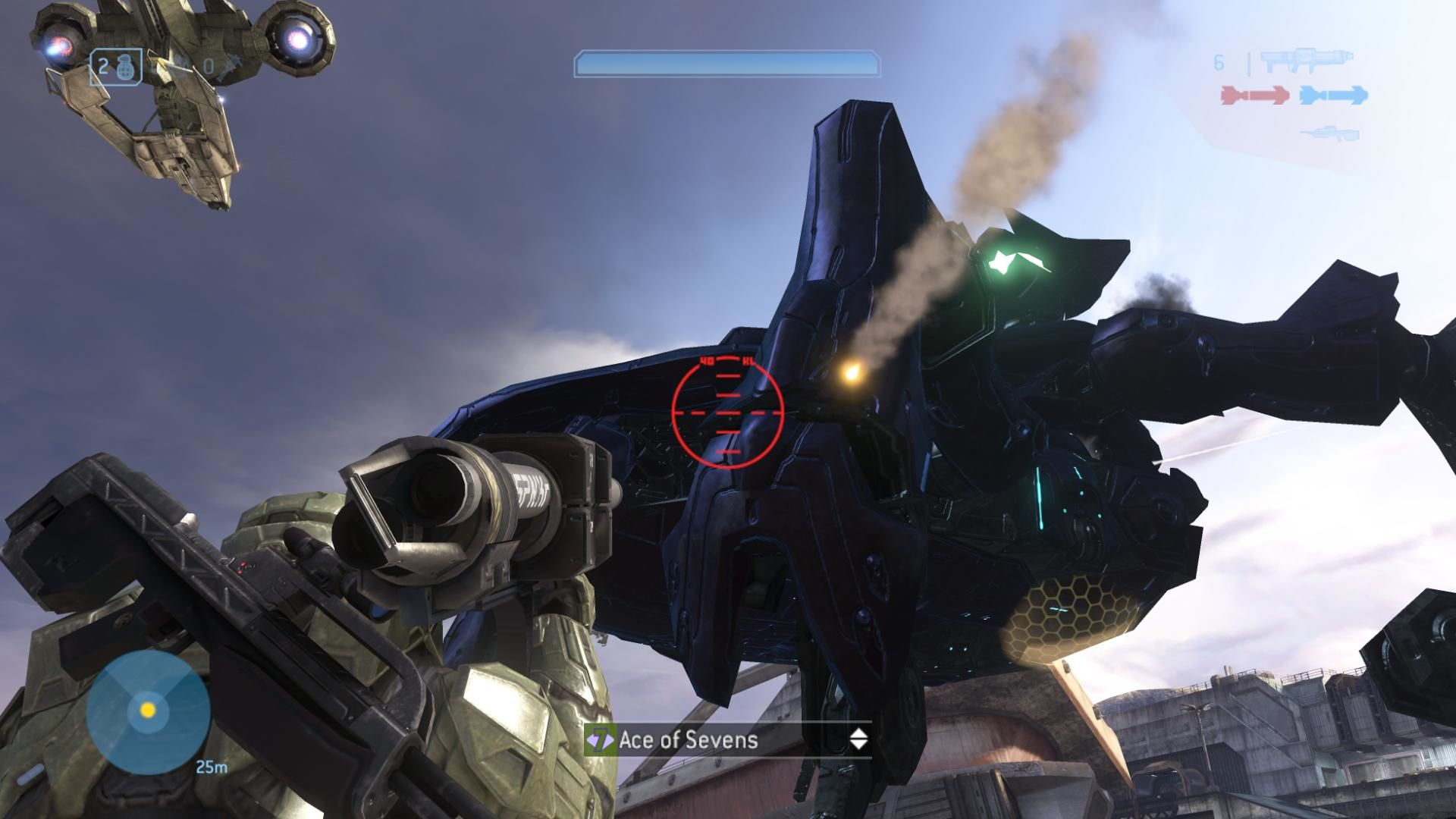 Halo 3 Xbox 360 Taking out a Scarab from the back of a Mongoose in campaign. NPCs in the new Hornet aircraft are assisting.