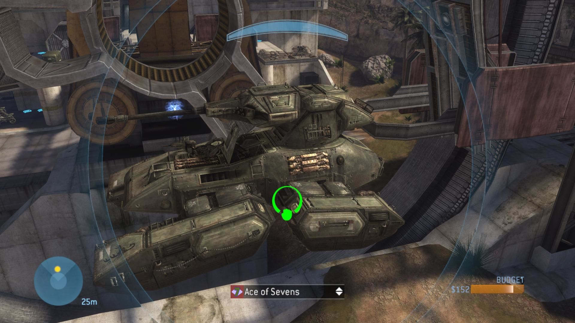 Halo 3 Xbox 360 Placing a Scorpion tank on Last Resort in Forge.
