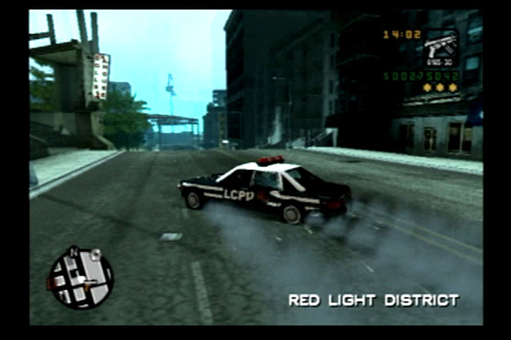 Grand Theft Auto: Liberty City Stories PlayStation 2 Running over spike strips tears your tires to shreds.