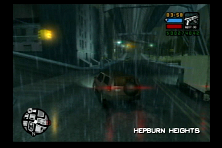 Grand Theft Auto: Liberty City Stories PlayStation 2 Rainy, dark nights are common in Portland.