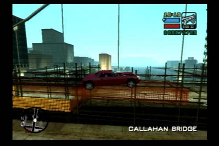 Grand Theft Auto: Liberty City Stories PlayStation 2 Callahan bridge is under construction so you have to find more non-traditional ways to get across.