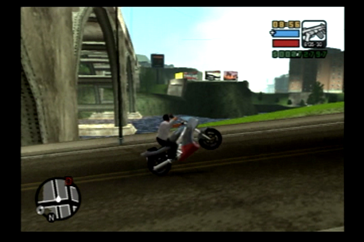 Grand Theft Auto: Liberty City Stories PlayStation 2 The bikes are a nice upgrade from GTA III.