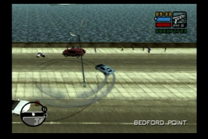 Grand Theft Auto: Liberty City Stories PlayStation 2 Tearing it up in Bedford Point.