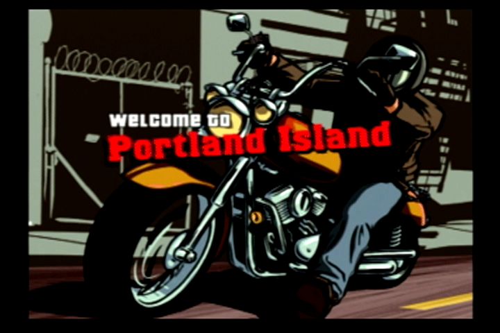 Grand Theft Auto: Liberty City Stories PlayStation 2 One of the loading screens when traveling between the islands.