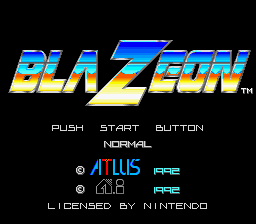 BlaZeon SNES Title Screen