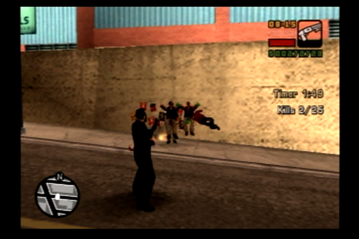 Grand Theft Auto: Liberty City Stories PlayStation 2 A shotgun to the stomach should teach them a lesson or two.