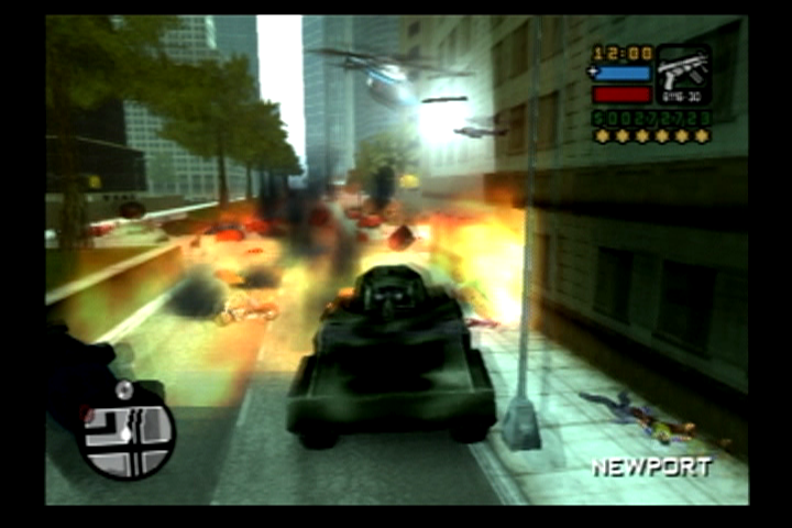 Grand Theft Auto: Liberty City Stories PlayStation 2 Someone's gonna have to clean that up.