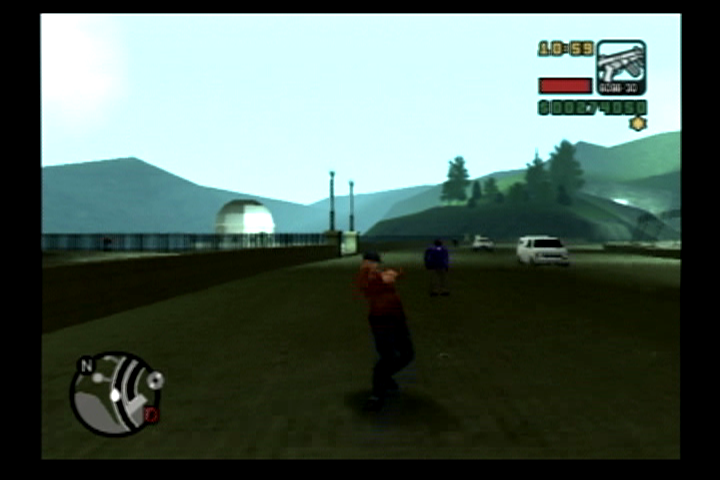 Grand Theft Auto: Liberty City Stories PlayStation 2 Change driving views to see an up close and personal splattering.