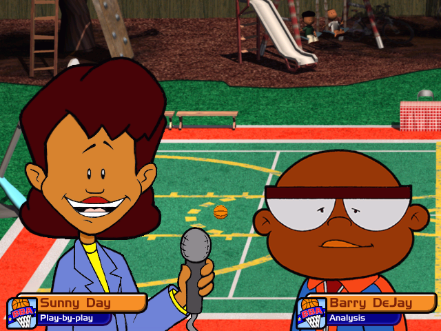 Backyard Basketball 2004 Windows Game Commentators.