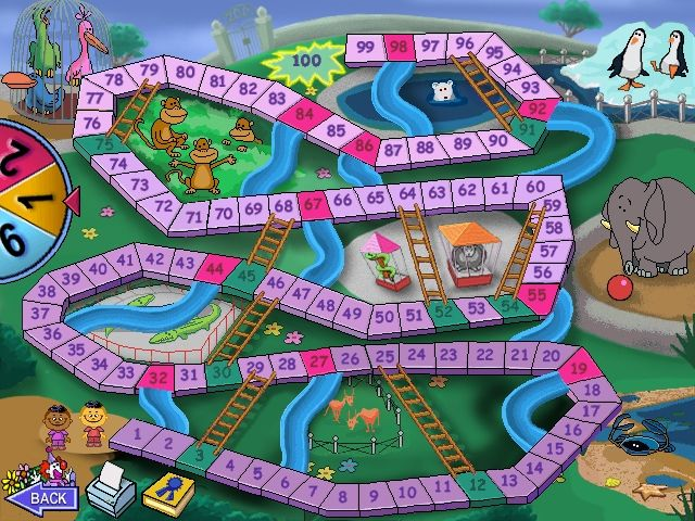 Chutes and ladders screenshots for windows mobygames for Chutes and ladders board game template