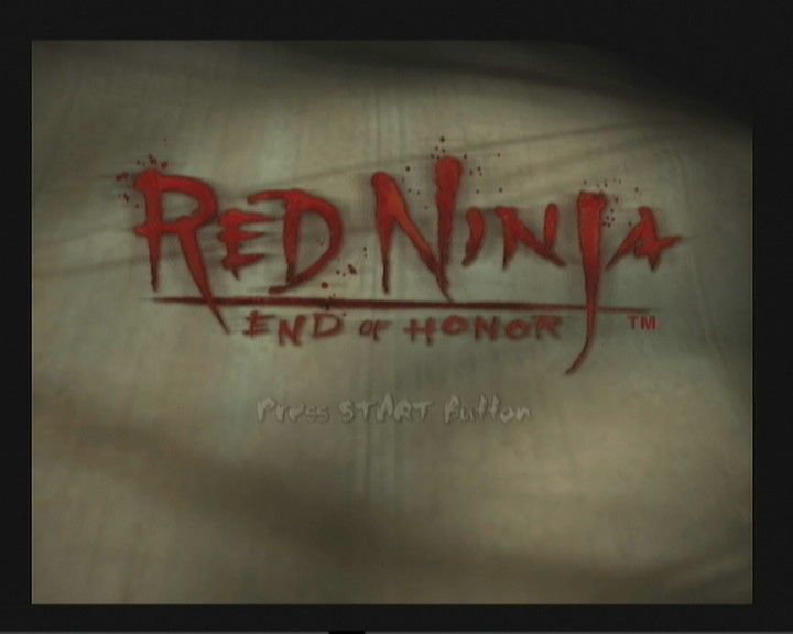 Red Ninja: End of Honor PlayStation 2 Title