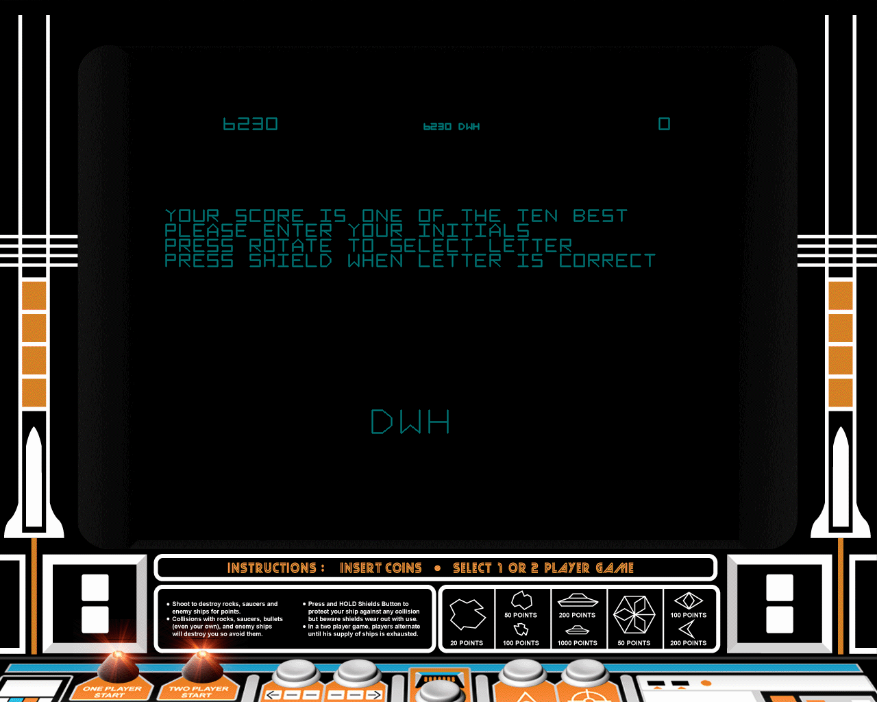 Atari: Anniversary Edition Windows Asteroids high score !