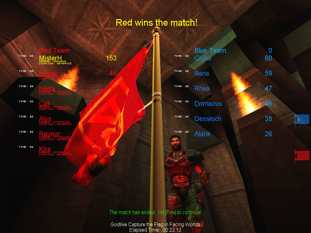 Unreal Tournament Windows CTF Facing Worlds - Win