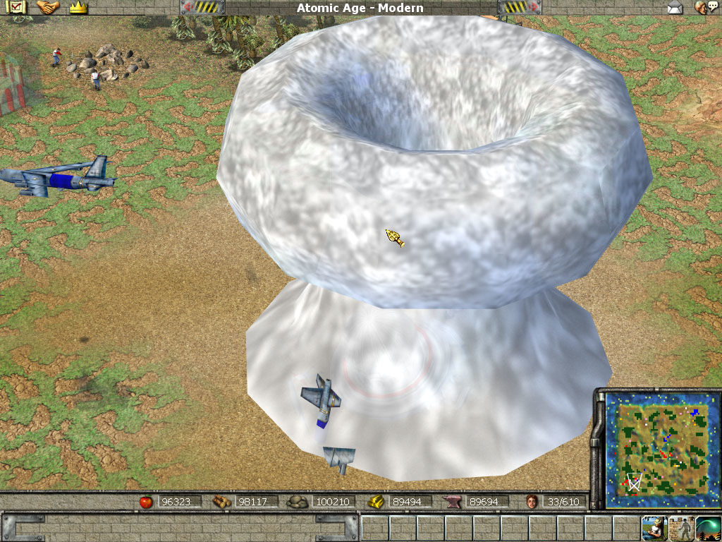 Empire Earth Windows An Atomic bombing, with mushroom cloud.