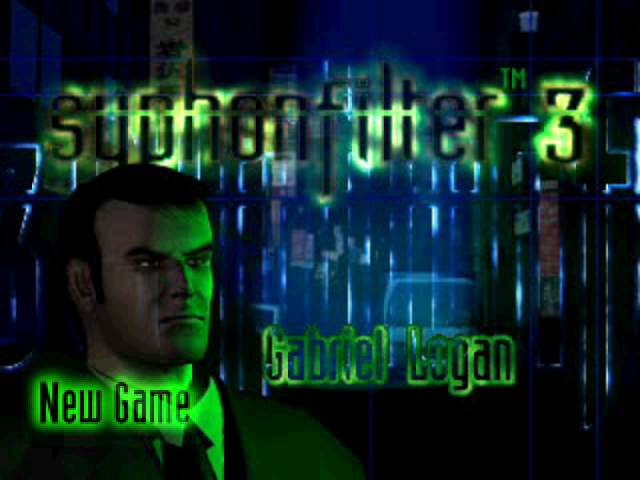 Syphon Filter 3 PlayStation Start menu