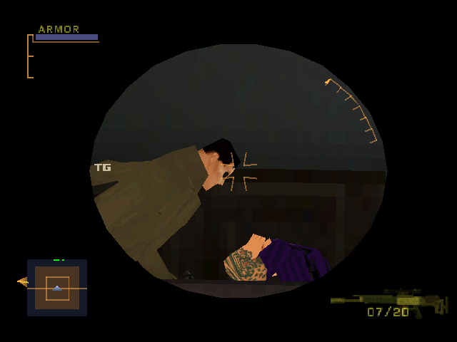 Syphon Filter 3 PlayStation Sniper rifle scope