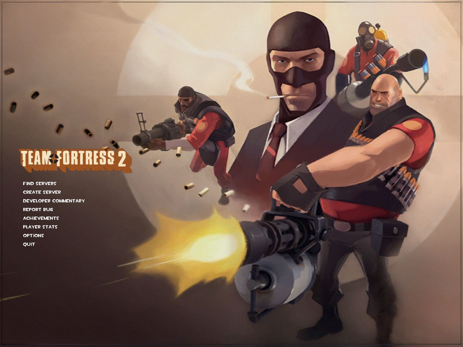 Team Fortress 2 Windows Main Menu