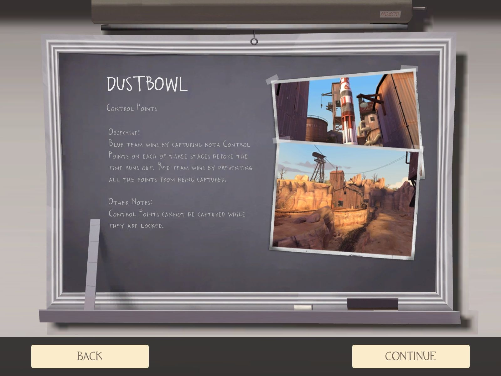 Team Fortress 2 Windows Information about the current map.