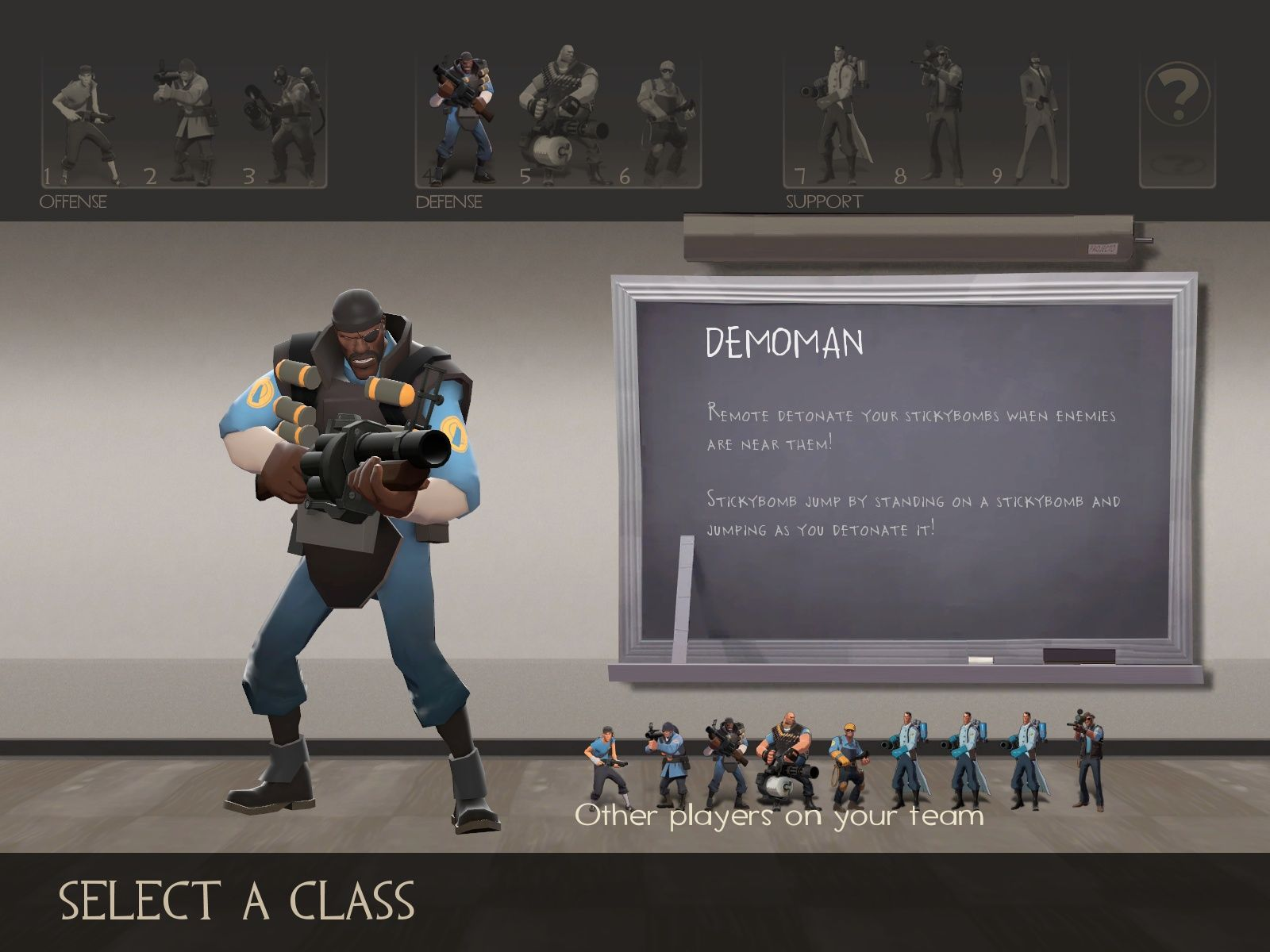 Team Fortress 2 Windows Choose your class.