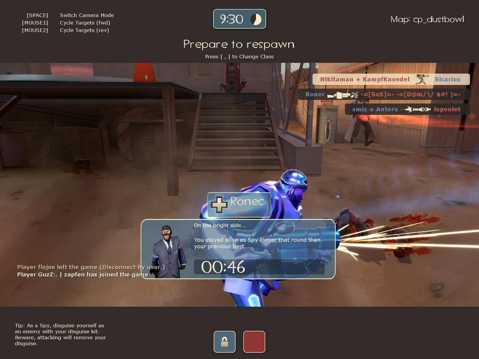 Team Fortress 2 Windows The kill cam with some stats.