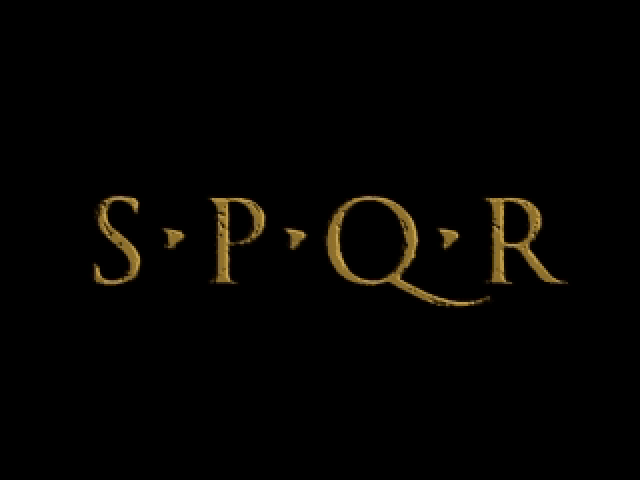 SPQR: The Empire's Darkest Hour Windows Title screen