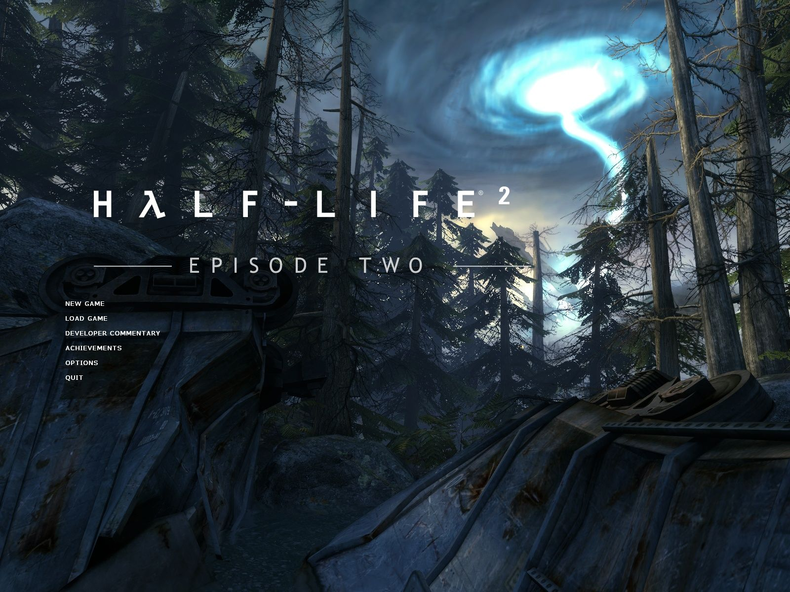 Half-Life 2: Episode Two Windows Main menu
