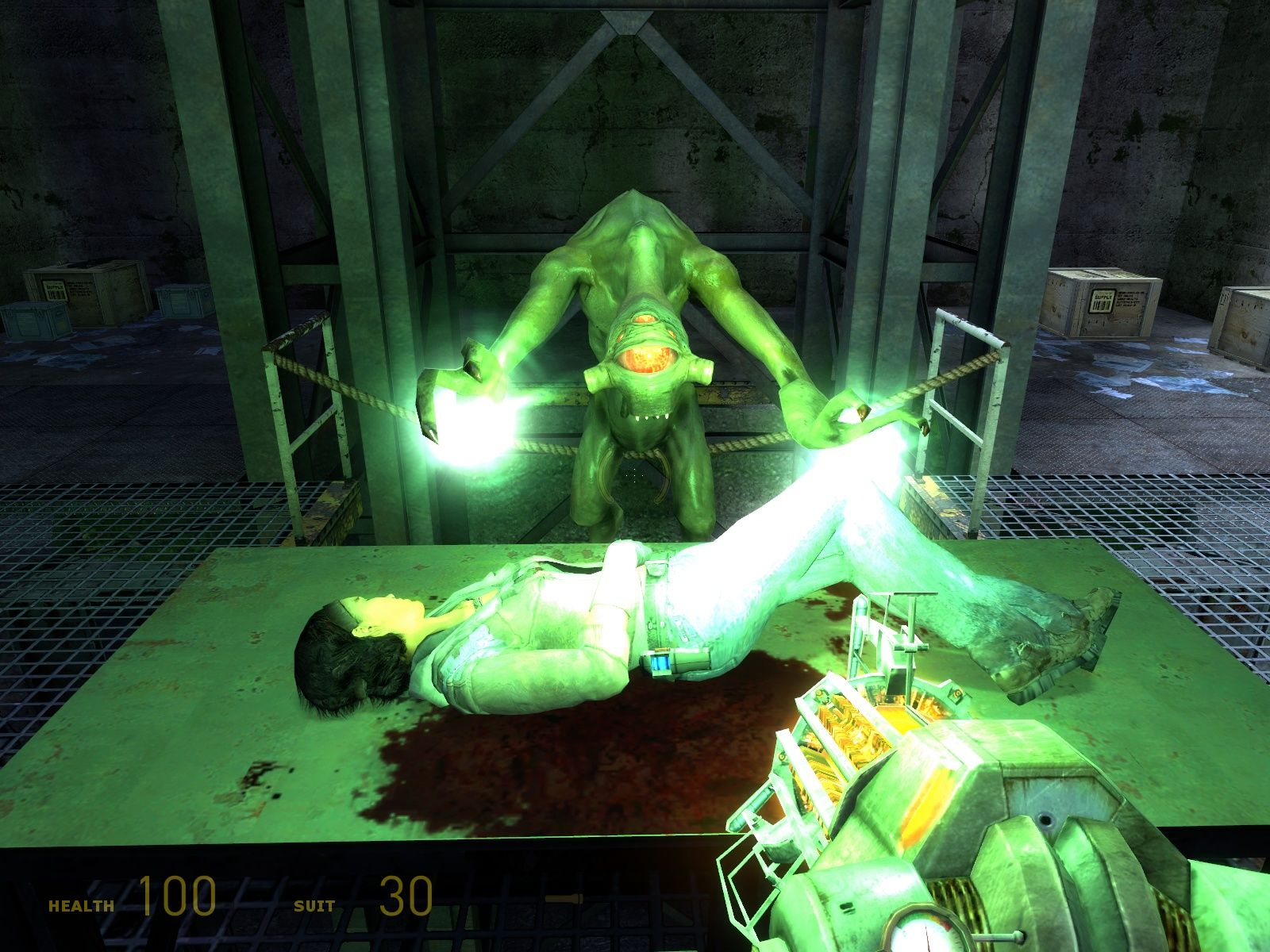 Half-Life 2: Episode Two Windows Alyx was injured and a Vortigaunt heals her.