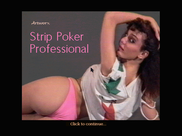 Strip Poker Professional DOS Title screen