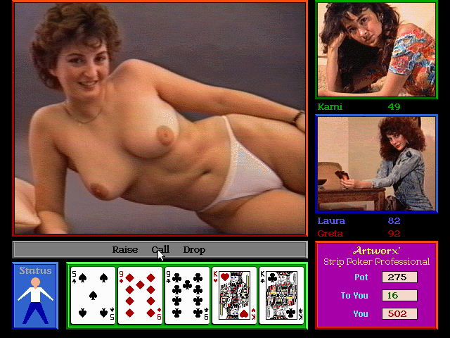 Strip poker video game