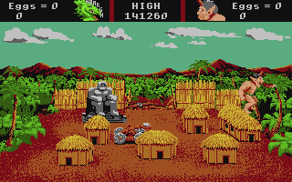 AAARGH! Apple IIgs The ogre rampages against the human village