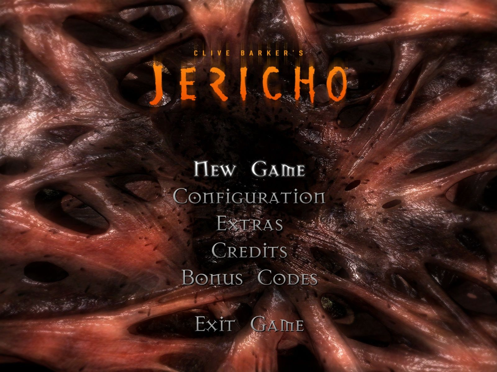 Clive Barker's Jericho Windows Main menu