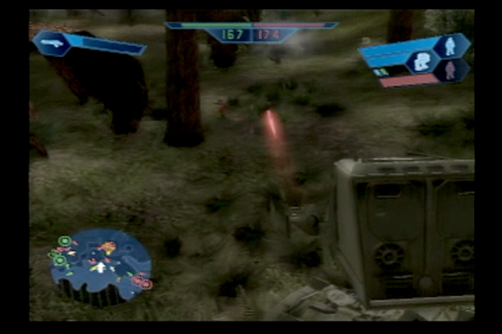 Star Wars: Battlefront PlayStation 2 The AT-ST is a great machine to do damage in.