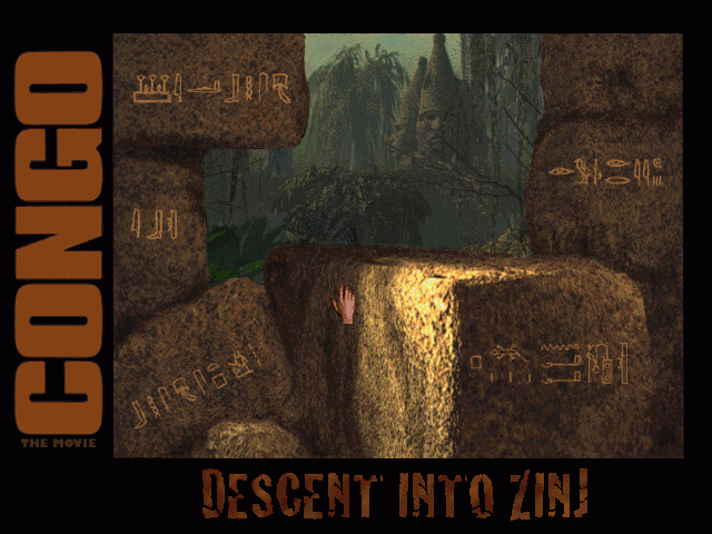 Congo: The Movie - Descent into Zinj Windows 3.x Main Menu