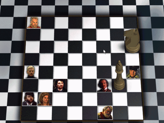 William Shakespeare's Hamlet: A Murder Mystery Windows First puzzle involves metaphorical chessgame with characters of the play substituted for chess pieces. Can you checkmate Cladius in three moves?