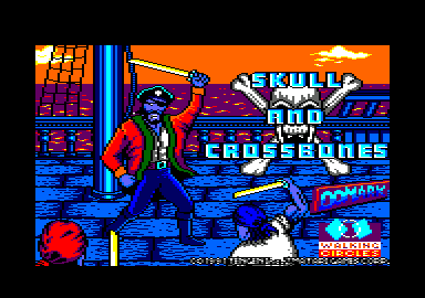 Skull & Crossbones Amstrad CPC Loading screen