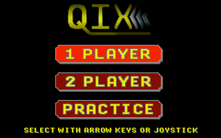 QIX Apple IIgs The main menu