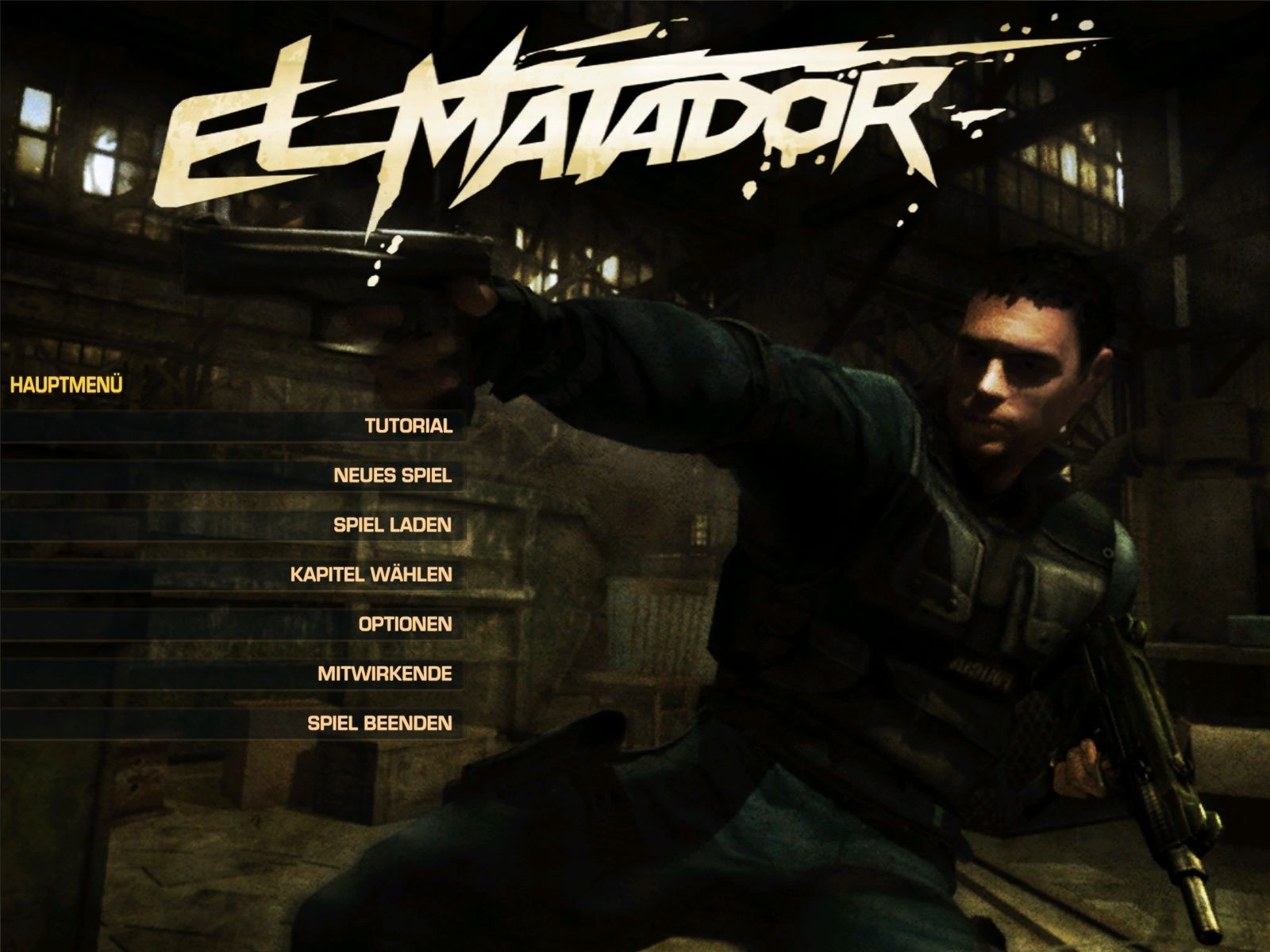 El Matador Windows Main menu