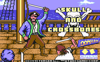Skull & Crossbones Commodore 64 Loading screen