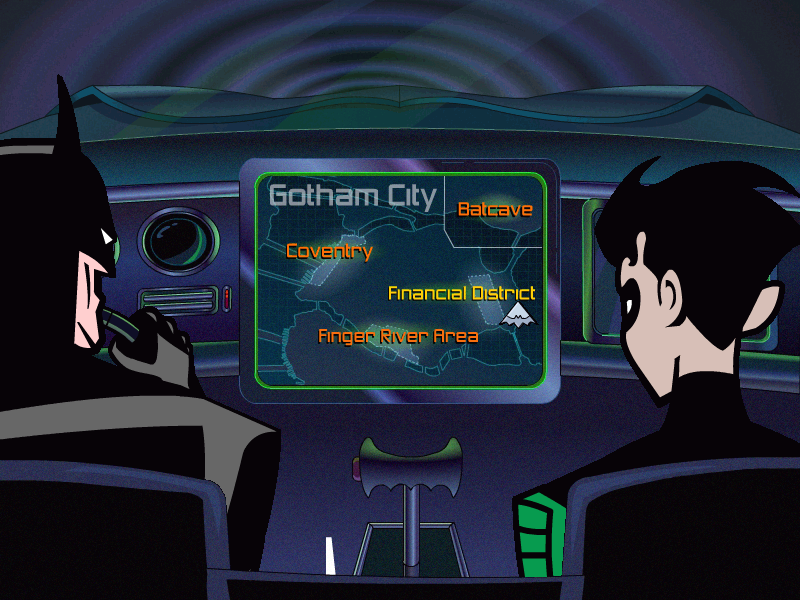 Batman: Toxic Chill Windows The Gotham City map.
