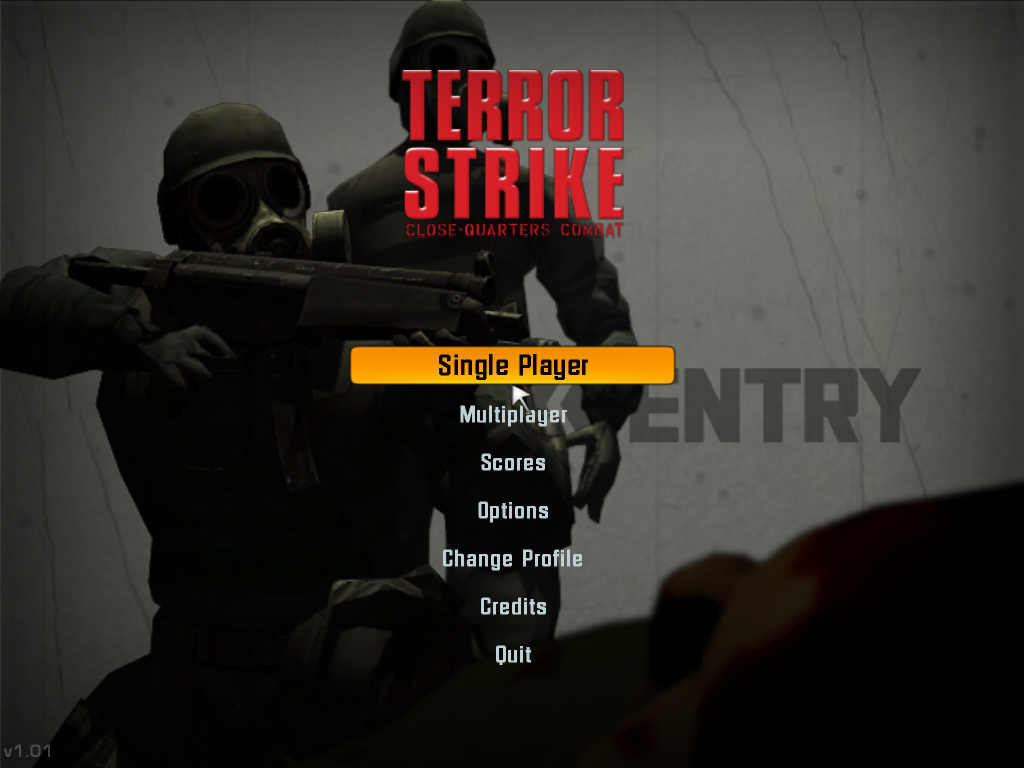 Terror Strike Windows Title Screen.