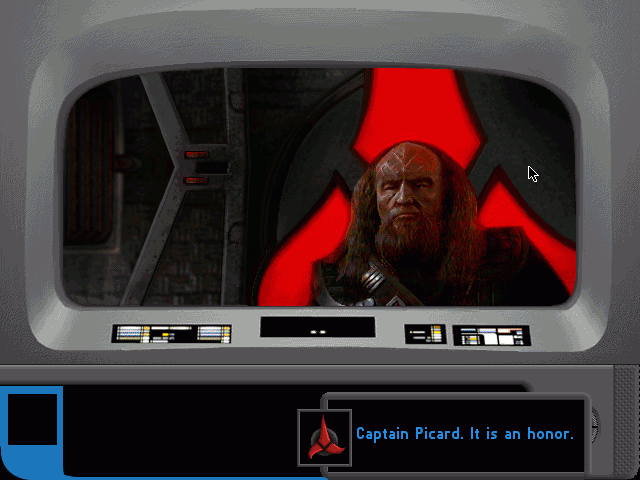 "Star Trek: The Next Generation - ""A Final Unity"" DOS Although Klingons do not play a distinctive role in the game, you still can't avoid including one."
