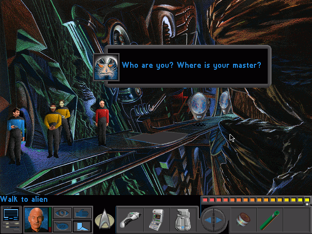 "Star Trek: The Next Generation - ""A Final Unity"" DOS A First Contact moment."
