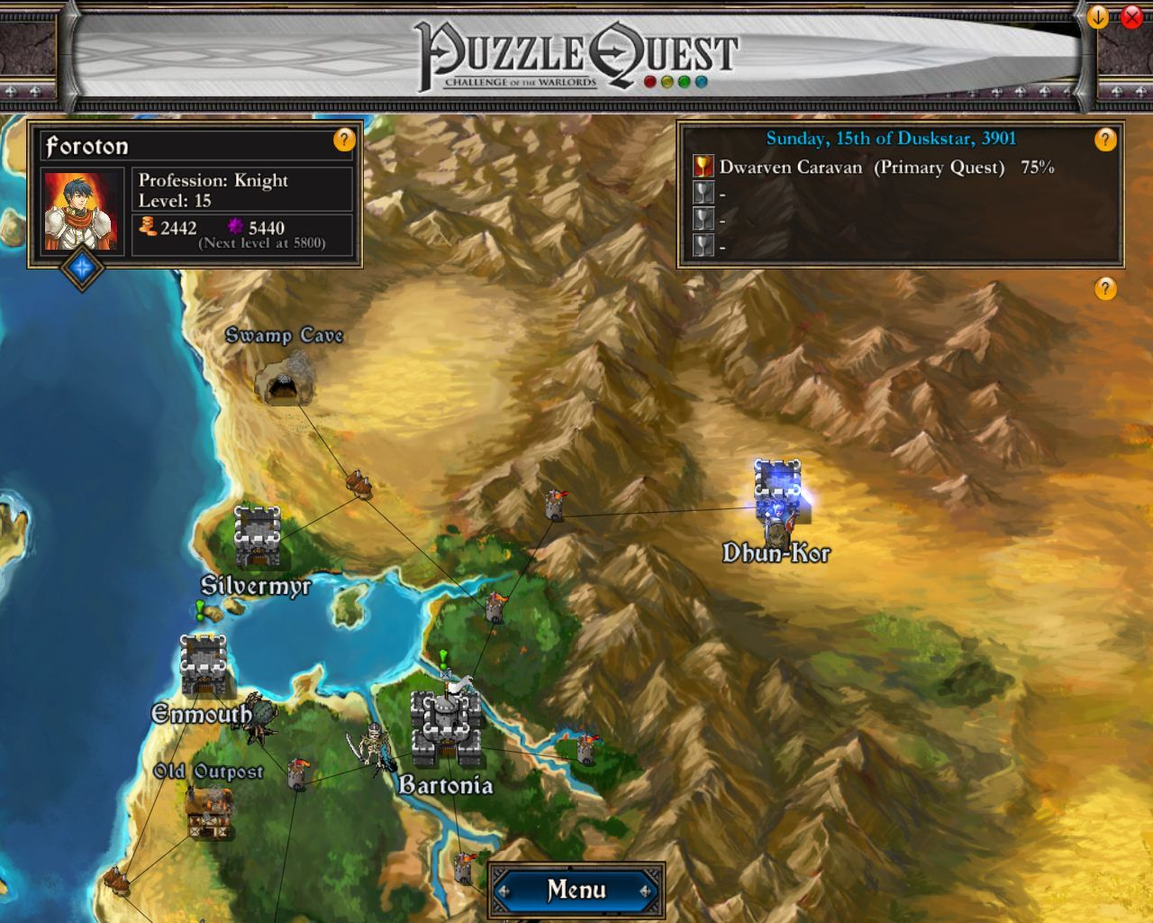 Puzzle quest challenge of the warlords screenshots for windows puzzle quest challenge of the warlords windows world map gumiabroncs Images