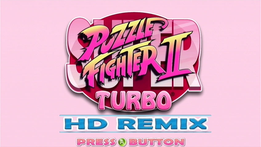 Super Puzzle Fighter II Turbo HD Remix Xbox 360 Title screen